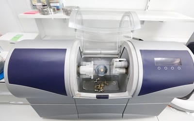 A CEREC milling machine.